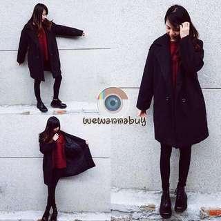 暖暖黑大衣外套