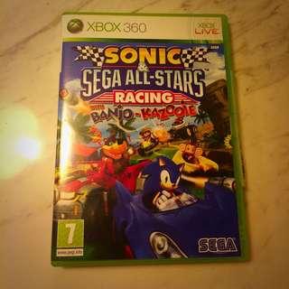Xbox 360 Game - Sonic & Sega All Stars Racing
