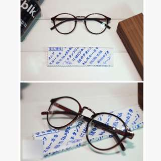 (New) Japanese Dark Brown Glasses