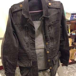 鐵灰色 帥氣 韓版 長版大衣 外套
