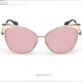 Sunglasses w/ Pink & Rose Gold Frames