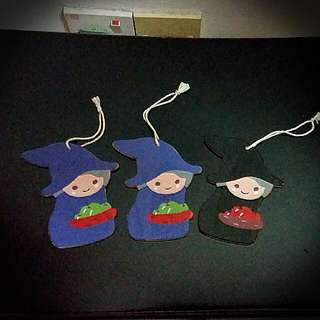 Cute Wooden Witch Figure(for Hanging On Christmas Tree)