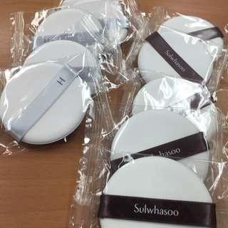 韓國帶回。全新氣墊粉餅粉撲 (雪花秀.HERA) 賣場加購價35