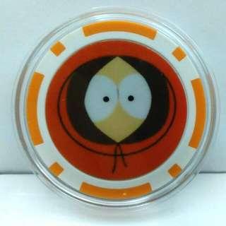 South Park Kenny Poker Face Poker Chip Card Guard