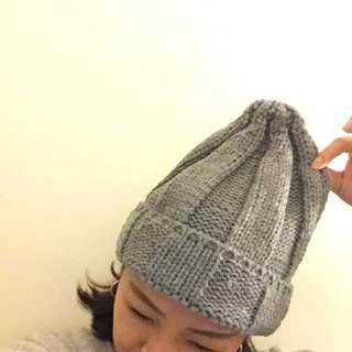啾啾毛帽(灰)