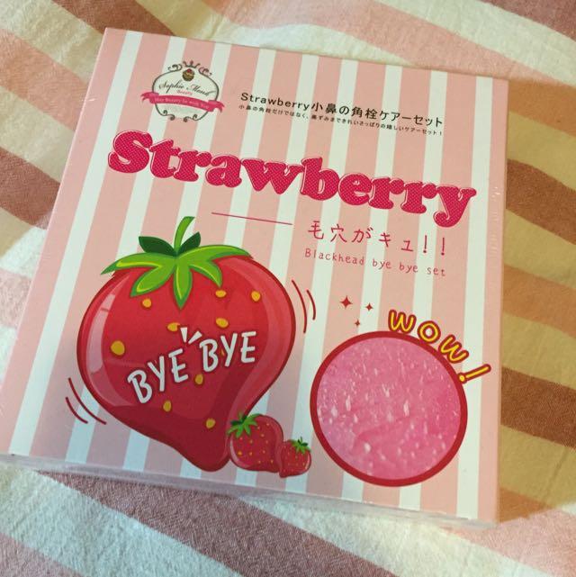 全新未拆封//草莓深層除粉刺三步驟//$250