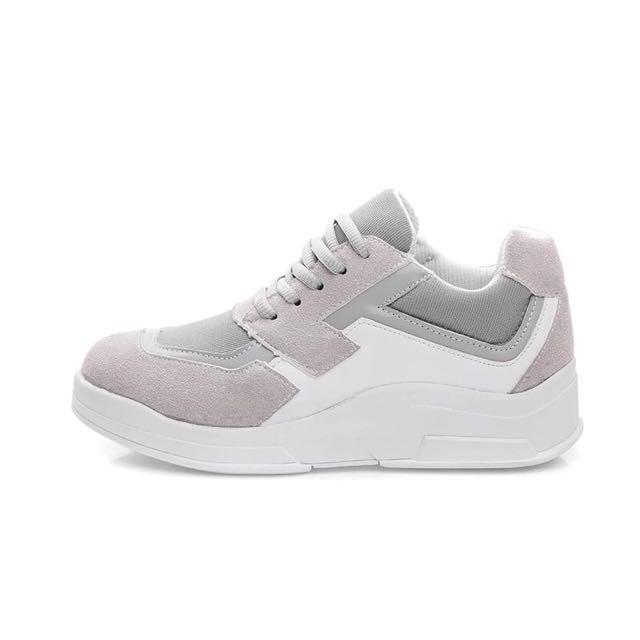 韓國賣到翻🔺厚底內增高球鞋🔺 黑/灰