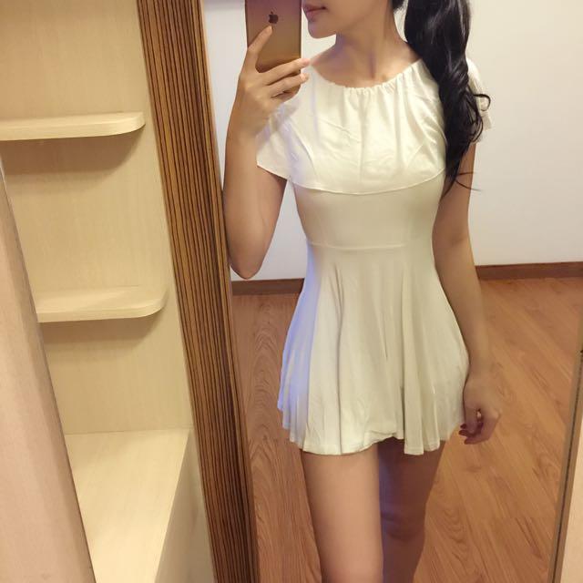 圓領洋裝(白)