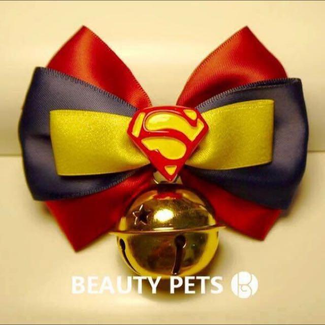手作限定。寵物手工領結「超人現貨中」