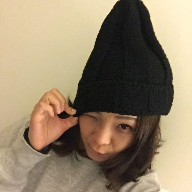 啾啾毛帽(黑)