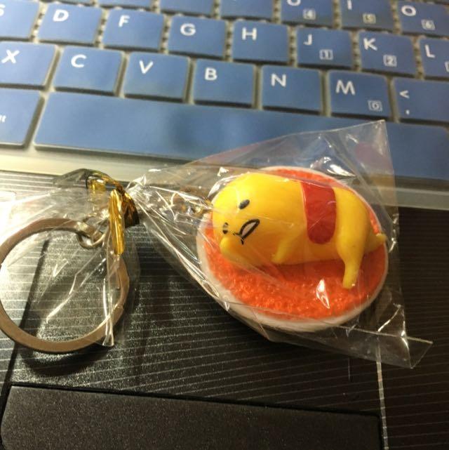 蛋黃哥 鑰匙圈 食物 蛋包飯 盤子