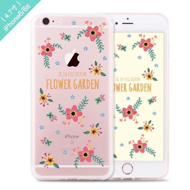 清新系列多款 iPhone 6/6s 手機殼 透明軟殼全包