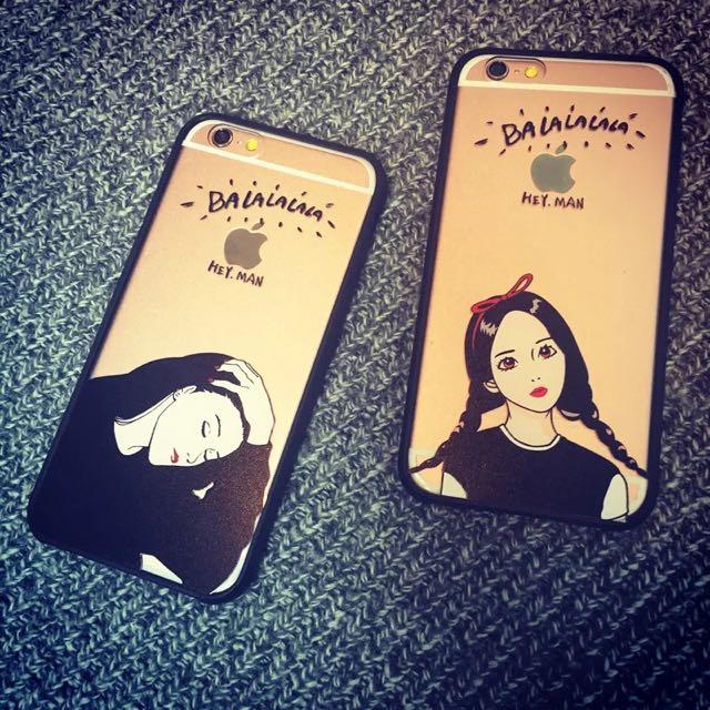 辮子女孩 iPhone 6/6s 手機殼 軟殼全包