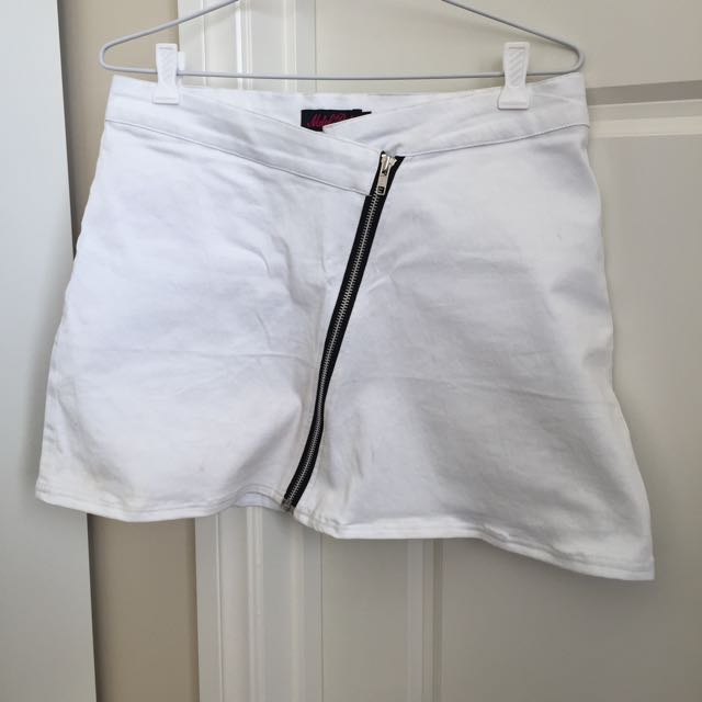 Asos White Skirt Size M