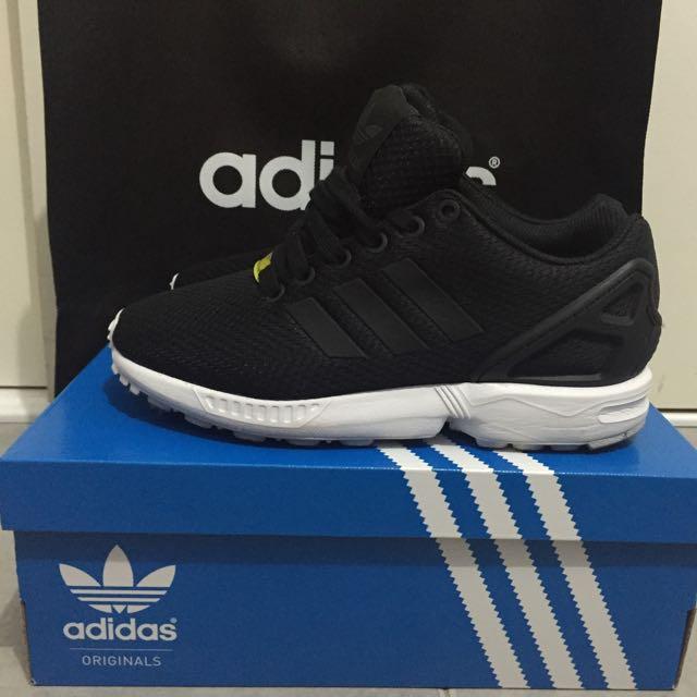 Black & White Adidas Zx Fluxs