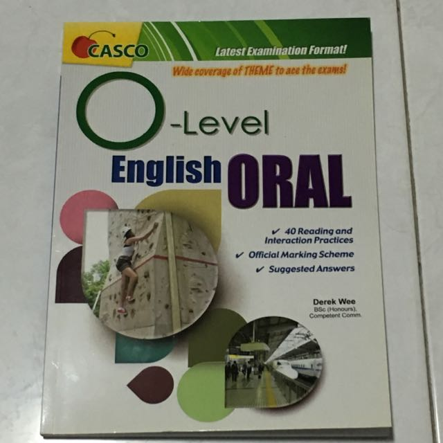 CASCO O Level English Oral Book Books Stationery