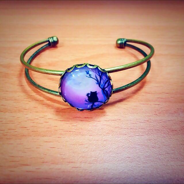 🌞Goblet純手工復古手鐲手環款 賞月の貓
