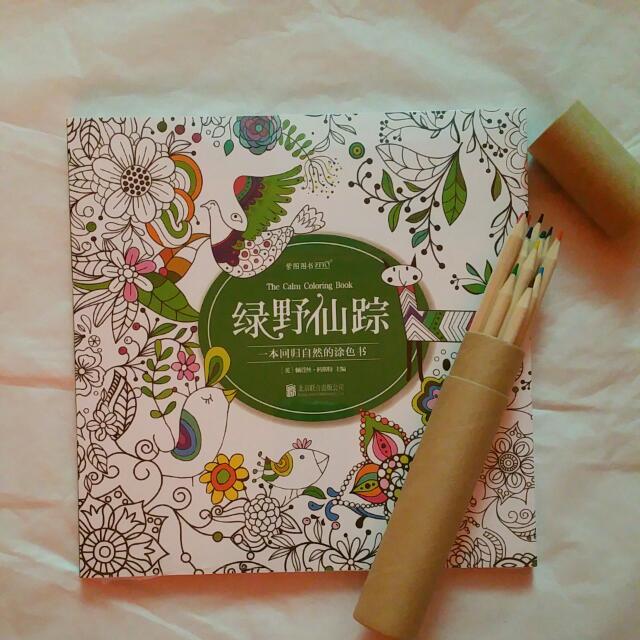 In Stock BN The Calm Coloring Book Secret Garden Colouring