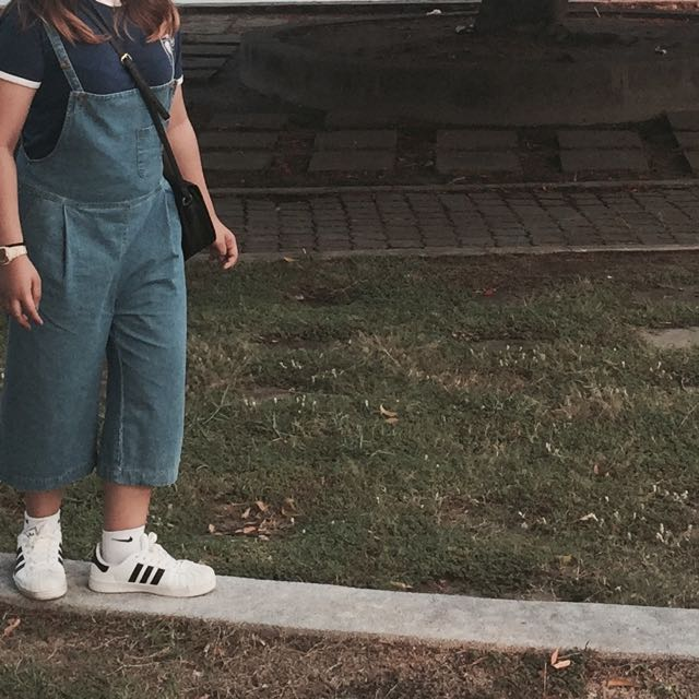 Korean Culottes Denim Overall
