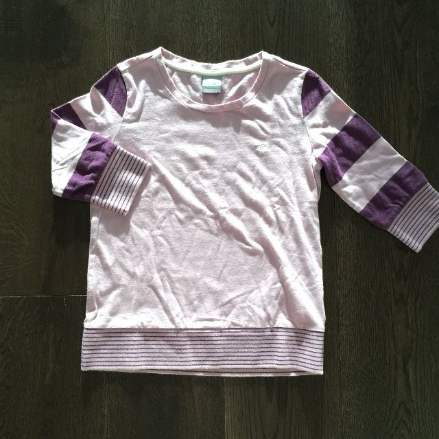 Nike Purple 3/4-Sleeved Shirt
