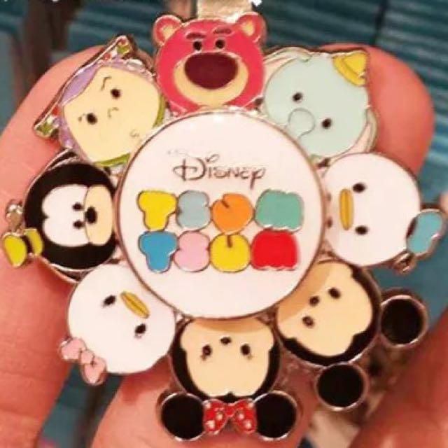 香港迪士尼代購迪士尼TsumTsum轉盤鑰匙圈