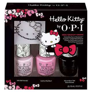 OPI Hello Kitty系列.閃閃惹人愛3入組(DDH05)
