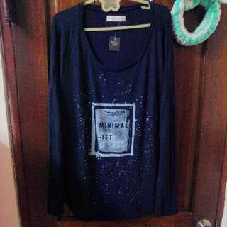 全新冬季新款Abercrombie & Fitch 長袖藍色t