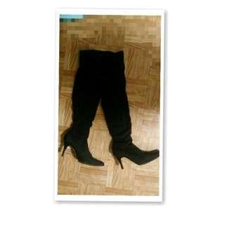 尖頭膝上靴 Lu Italy