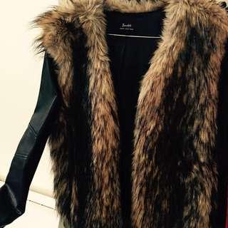 Faux Fur Bardot jacket