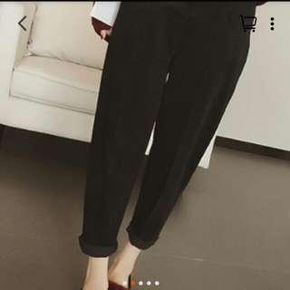 燈芯絨褲 黑色 S號 全新《朋友寄賣》