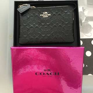 Coach Small Wristlet with Gift Box