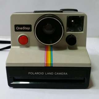 Polaroid Rainbow Stripe Sx70 OneStep Camera