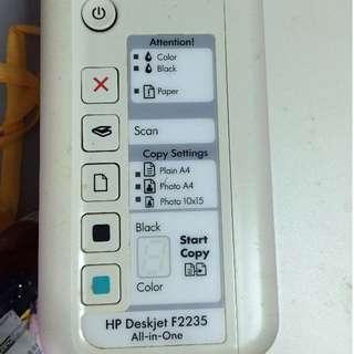 all-in-one printer:HP Deskjet F2235