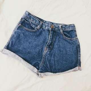 歐美 高腰 牛仔褲