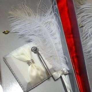 Wedding - Solemnization feather Pen (1 Pair)