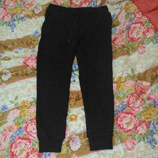 UNO縮口棉褲(黑*1)(灰*1)XL