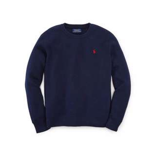 【Moose】A&F HCO RL 針織ELBOW PATCH針織毛衣 LOGO 深藍 情侶款 實穿 全新正品 現貨