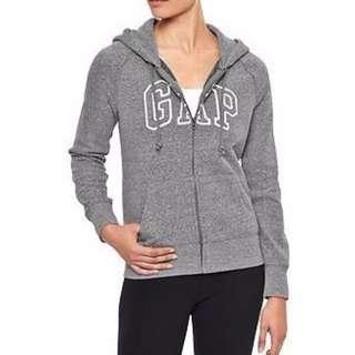【Moose】A&F HCO RL GAP Logo 連帽外套 灰色 全新正品 女款 現貨