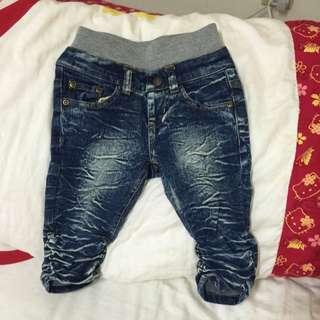 ✨nissen牛仔褲七分褲✔️100cm✔️九成新