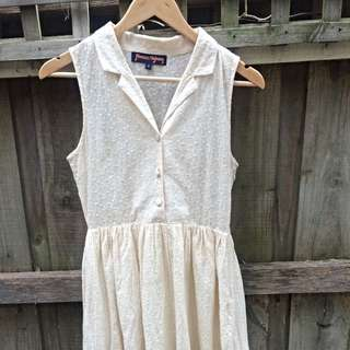 Princess Highway Cream Dress 8