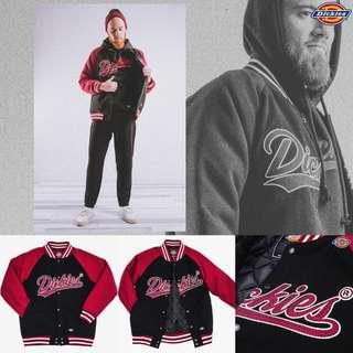 (暫售)Dickies 毛呢棒球外套 夾克 黑紅 M號