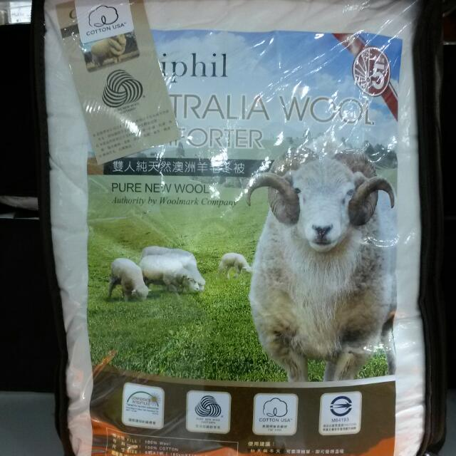 雙人澳洲純天然羊毛被CALIPHIL     尺寸 180 * 210 CM