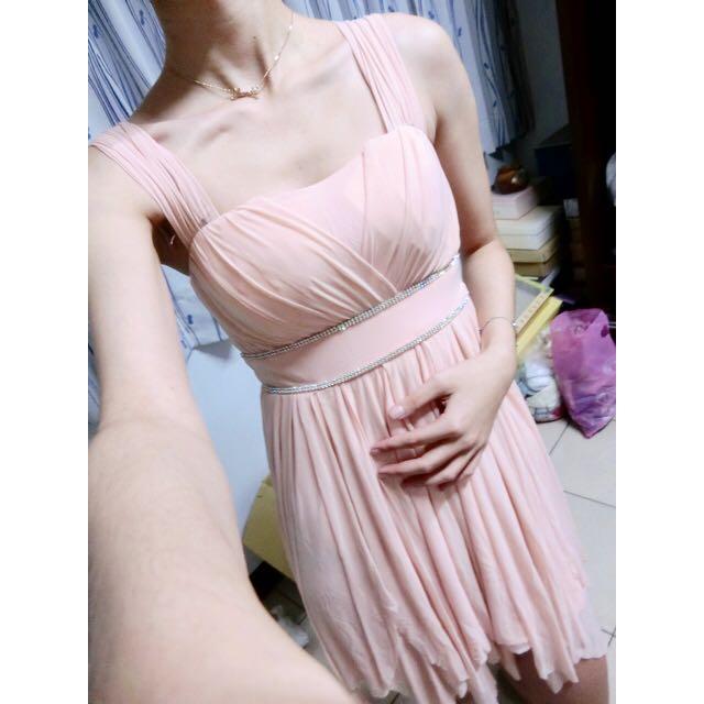 🎀粉色小禮服小洋裝