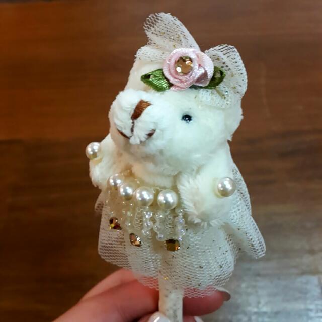 婚紗熊熊造型筆
