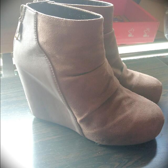 麂皮砌型鞋