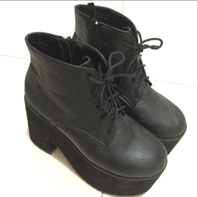 荔枝皮厚底鞋