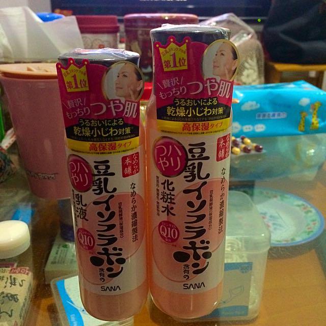 豆乳化妝水+乳液
