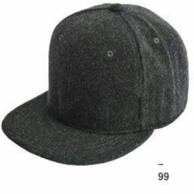 (含運)毛呢 棒球帽 深灰