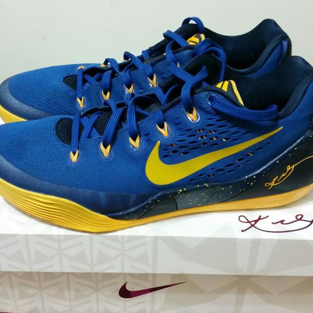 ※二手※ nike kobe 9代 9成新 us9籃球鞋 勇士配色 藍黃