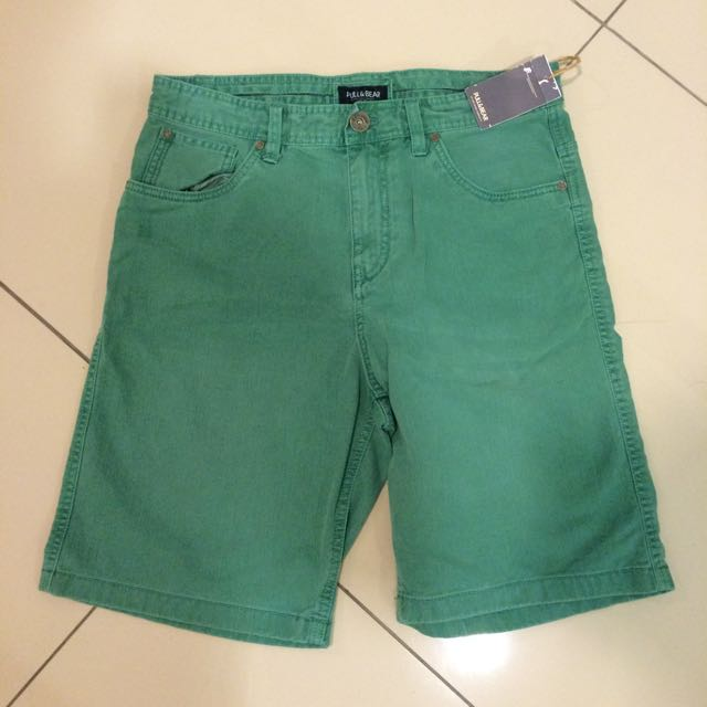 0e61d45da2 Basic Coloured Bermuda Shorts -- Pull & Bear, Men's Fashion on Carousell